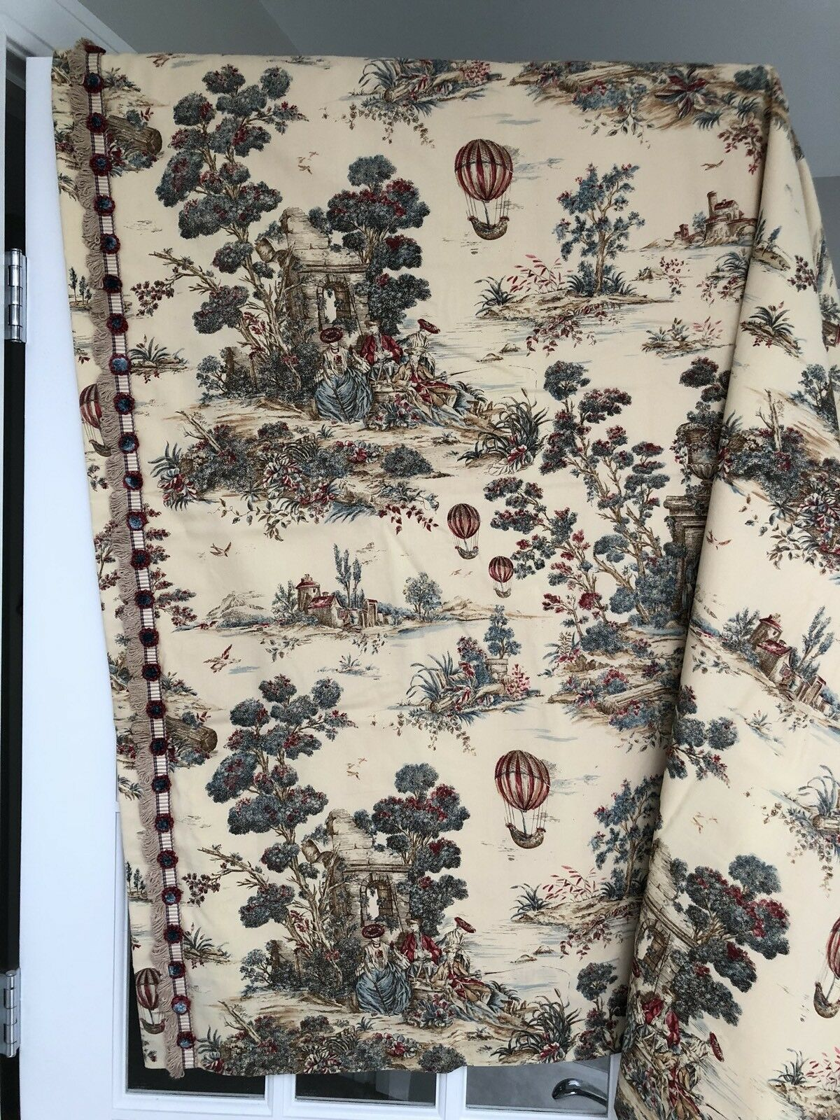 Cortina De Toile Cortinas A Medida 50  X 49  Almohadas Panel Forrado de decoración francesa amarre para