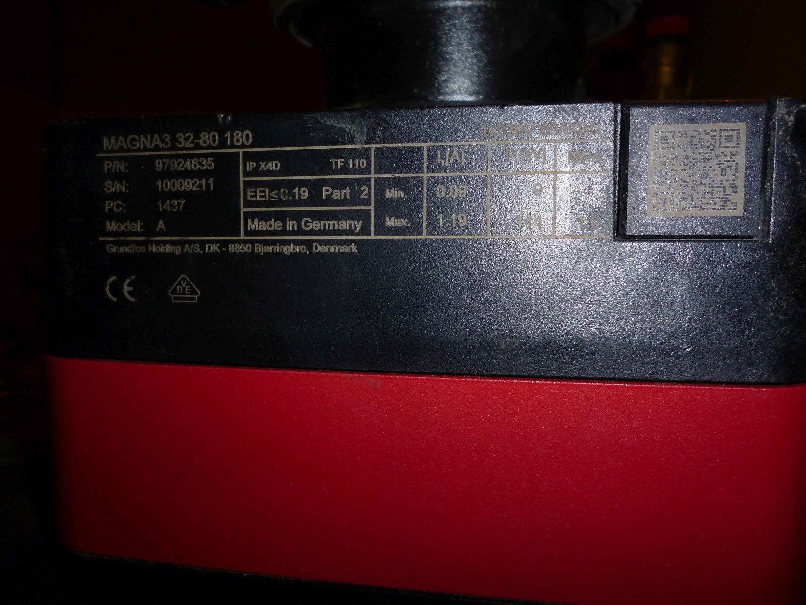 Grundfos Magna3 32-80 180 mm 97924635 97924635 97924635 Energiesparpumpe ea1655