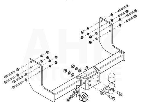 Für Mercedes Sprinter II W906 Pritsche 3.0T//3.5T Einzelbereifung AHK+ESatz 7pol