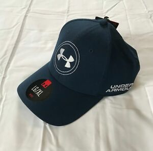 New Under Armour Stretch Fit Golf Hat Size L Xl Blue White