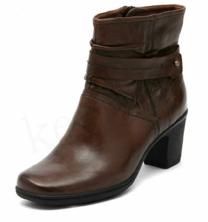 Planet Leather Ankle Boots - Dark Tan in SZ 7½ (Aus)