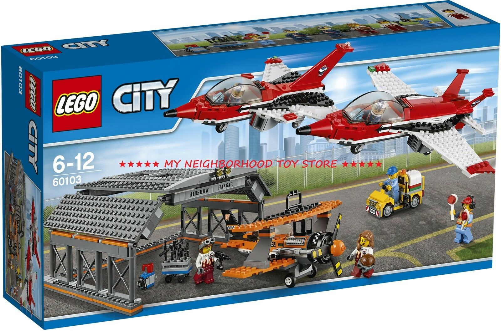 PRONTA CONSEGNA - LEGO 60103 CITY SHOW AEREO ALL'AEROPORTO AIRPORT AIR SHOW