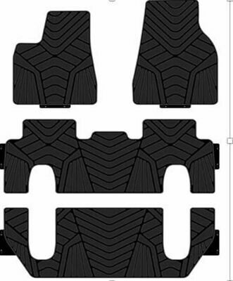 All Weather Protection Cargo Mat Carpet Floormat,5Seats Heavy Duty Rubber Front Trunk Mat for Tesla Model X Customized Waterproof Front Cargo Liner Tray