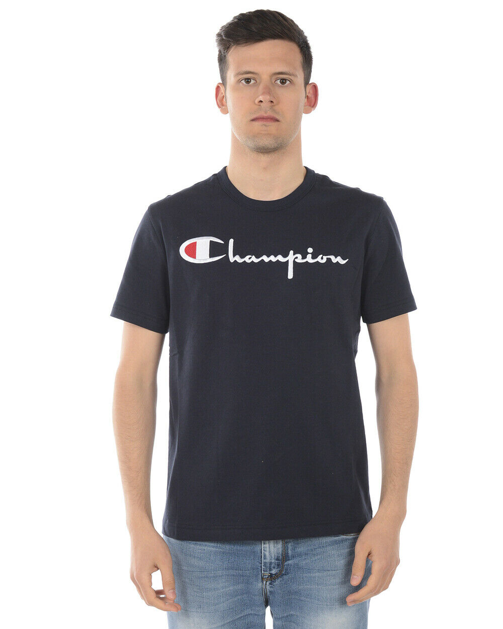 Champion T Shirt Sweatshirt Cotton Man Blau 210972 BS501 Sz XXL MAKE OFFER
