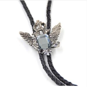 Eagle Crown Bolo Tie Bola Necktie Pendant Braided Shoestring Necklace Western