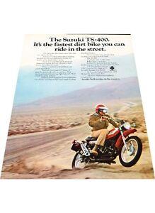 1972-Suzuki-TS-400-Motorcycle-Bike-Vintage-Advertisement-Print-Ad-J416