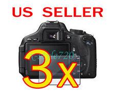 3x Canon EOS 600D Rebel T3i Camera LCD Screen Protector Guard Shield Film