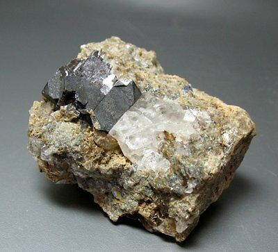 Galena, Calcite - Bleiwasche, Germany - 3.3 cm - Free Shipping