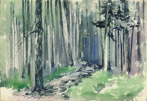 Expressionist-Wasserfarbe-Papier-034-Wald-034