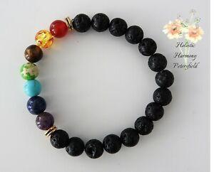 Lava-Stone-Essential-Oil-Diffuser-Aromatherapy-Bracelet-7-Chakra-Beads