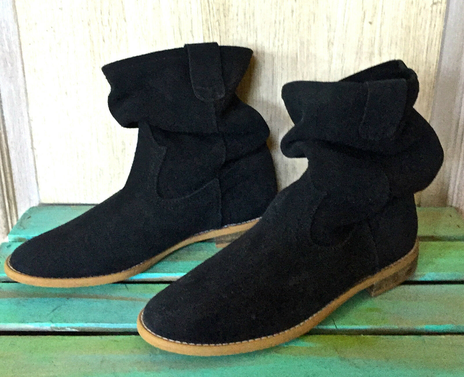 Jeffrey Slouchy Campbell Negro Gamuza Slouchy Jeffrey botas Tacón Bajo 37 6.5-7 bab60a