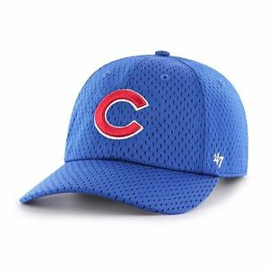 Chicago Cubs  47 Brand Blue Three Point Clean Up Adjustable Hat  89a48fc91