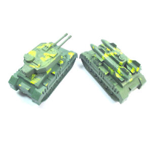 Army Green Tank Cannon Model Miniature 3D Toys Hobbies Kids Educational CO