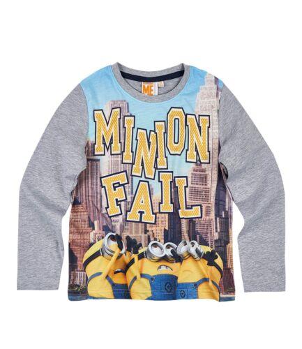 Garçons Enfants Official Licensed Minions Méprisable Me à Manches Longues T Tee Shirt Top
