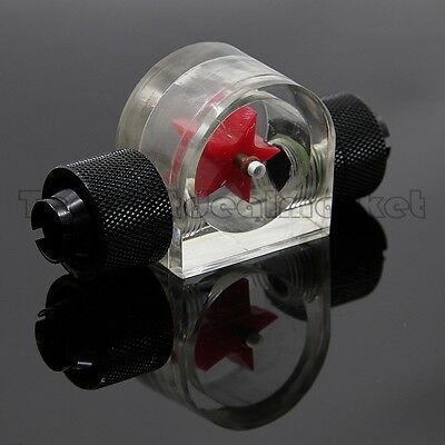 Water Cooling Acrylic Flow Meter 2 Way G1/4 Threaded w Nozzles 3/8 ID 5/8 OD USA