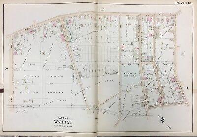1911 ROXBOROUGH PHILADELPHIA PA ST MARY\'S CEMETERY ROXBOROUGH SCHOOL ATLAS  MAP | eBay