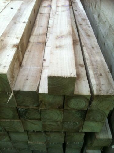 2.4x75x75 wooden 8ft 3x3 pressure treated timber post only £4.95 Sunderland