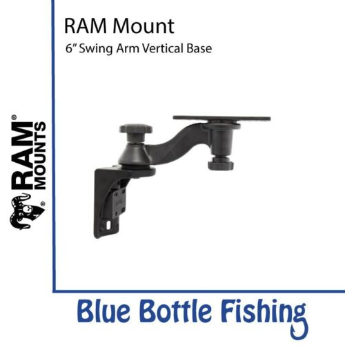 "Vertical RAM Mount 6/"" Swing Arm Vertical Base For Lowrance HDS 7,8,9 Elite 9..."