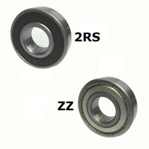 10-Industrie-Kugellager-Rillenkugellager-624-6205-Welle-Dichtung-2RS-oder-ZZ-DE