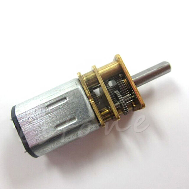 12V 100RPM Mini DC Metal Gear Motor with gearwheel Model:N20 3mm Shaft Dia