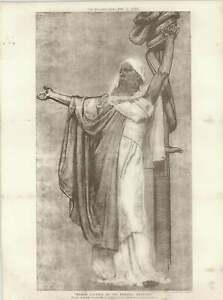 1887-Silver-Medal-Cartoon-Moses-Lifting-Up-The-Brazen-Serpent-By-RA-Bell