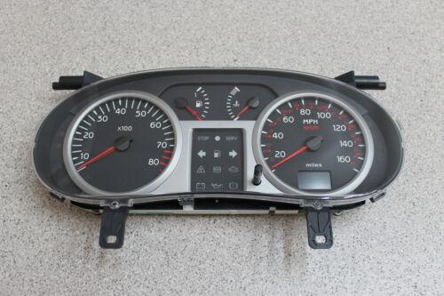 Renault Clio II Combi Instrument Compteur De Vitesse Compteur De Vitesse Km//h.//mph Neuf 8200261090