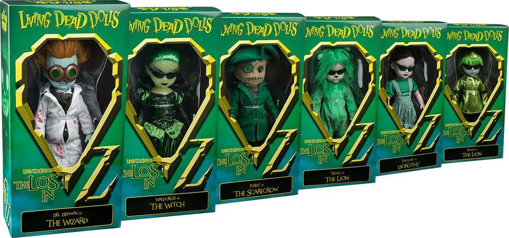 LIVING DEAD DOLLS - The Lost In Oz 10  Variant Action Figure Set (6) Mezco  NEW