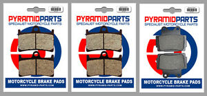 Front & Rear Brake Pads (3 Pairs) for Yamaha FZS 600 Fazer 98-03