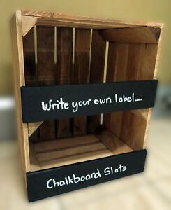 Image Is Loading Vintage Le Crate Wooden Shelf Unit With Chalkboard