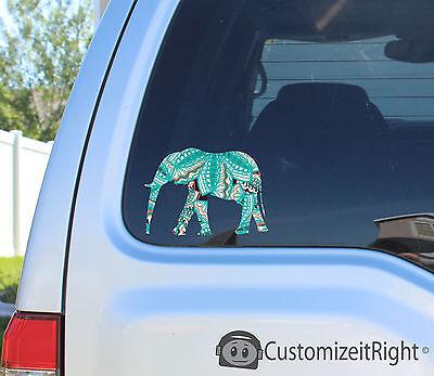 Elephant Sticker decal car notebook macbook laptop tribal hand animal head cheap