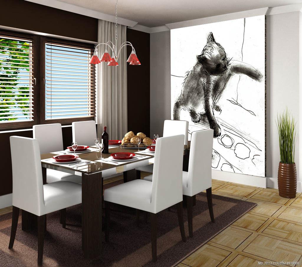 3D Spaß Katzen 734 Tapete Wandgemälde Tapete Tapeten Bild Familie DE Summer | New Product 2019  | Attraktive Mode  | Modern
