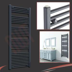 600mm-w-x-1600mm-h-Anthracite-Heated-Towel-Ladder-Rail-Radiator-3386-BTUs
