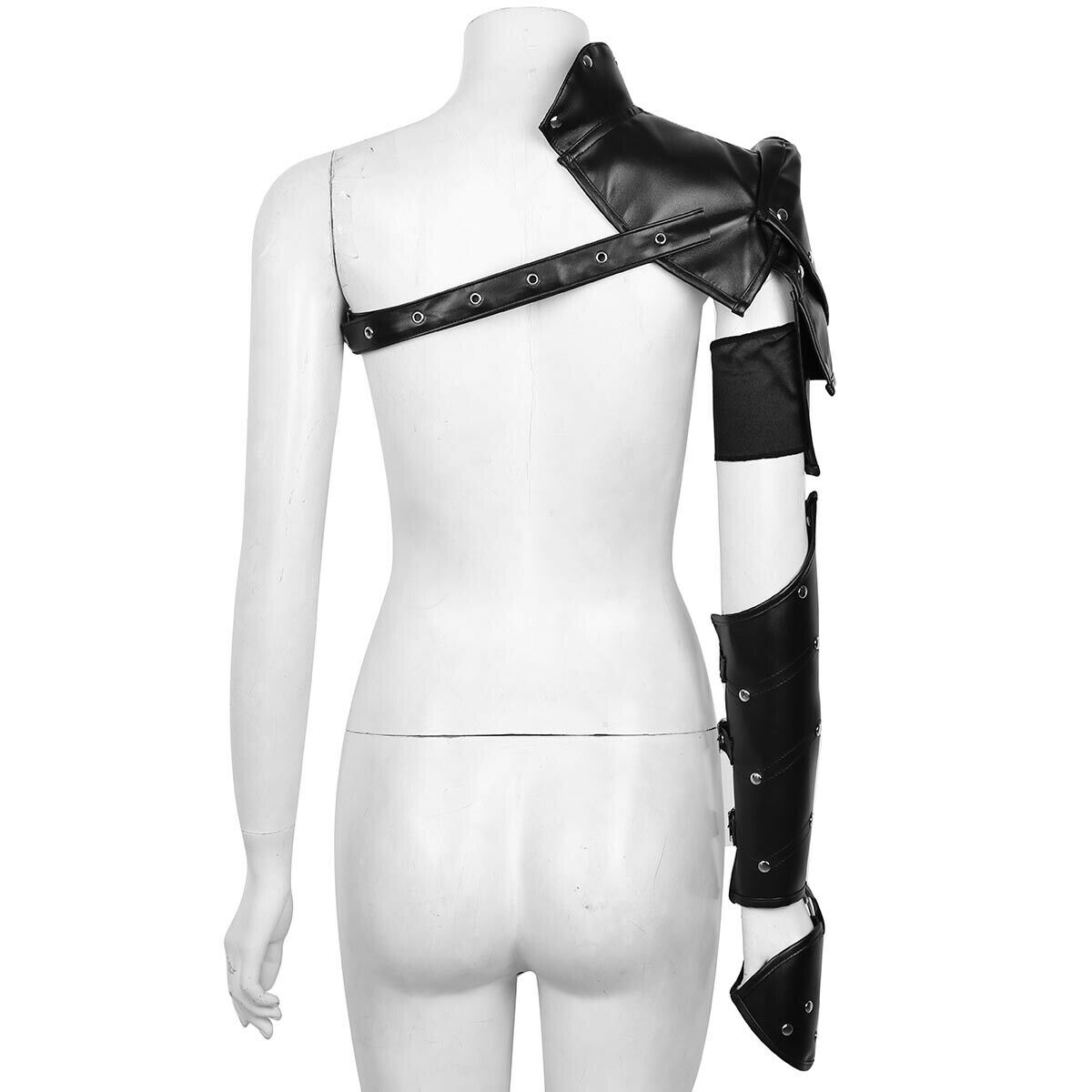 Gothic Steampunk Shoulder Armor with Arm Strap Set Cosplay Costume Accessory