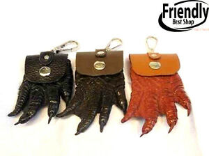 345fd0f5655e CROCODILE WALLETS SKIN LEATHER FOOT CLAW COIN BAGS KEYCHAINS 3PCs ...
