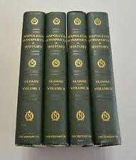 THE LIFE OF NAPOLEON BONAPARTE 1896 1st Edition Four Volumes Color Plates