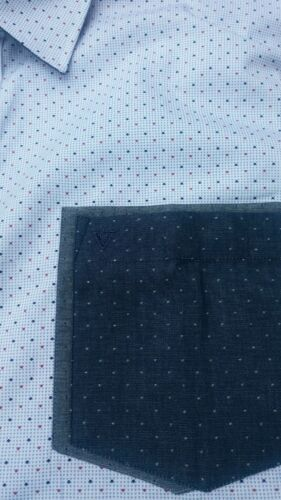 Cotton Valley Manica Corta Camicia Contrasto Tasche Blu 2XL3XL4XL55XL6XL7XL8XL