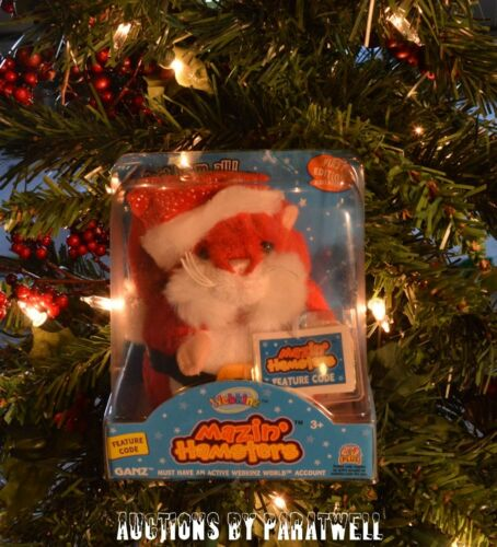 SEALED Webkinz Mazin/' Hamster Limited Edition Christmas Santa w// Unused Code NIP