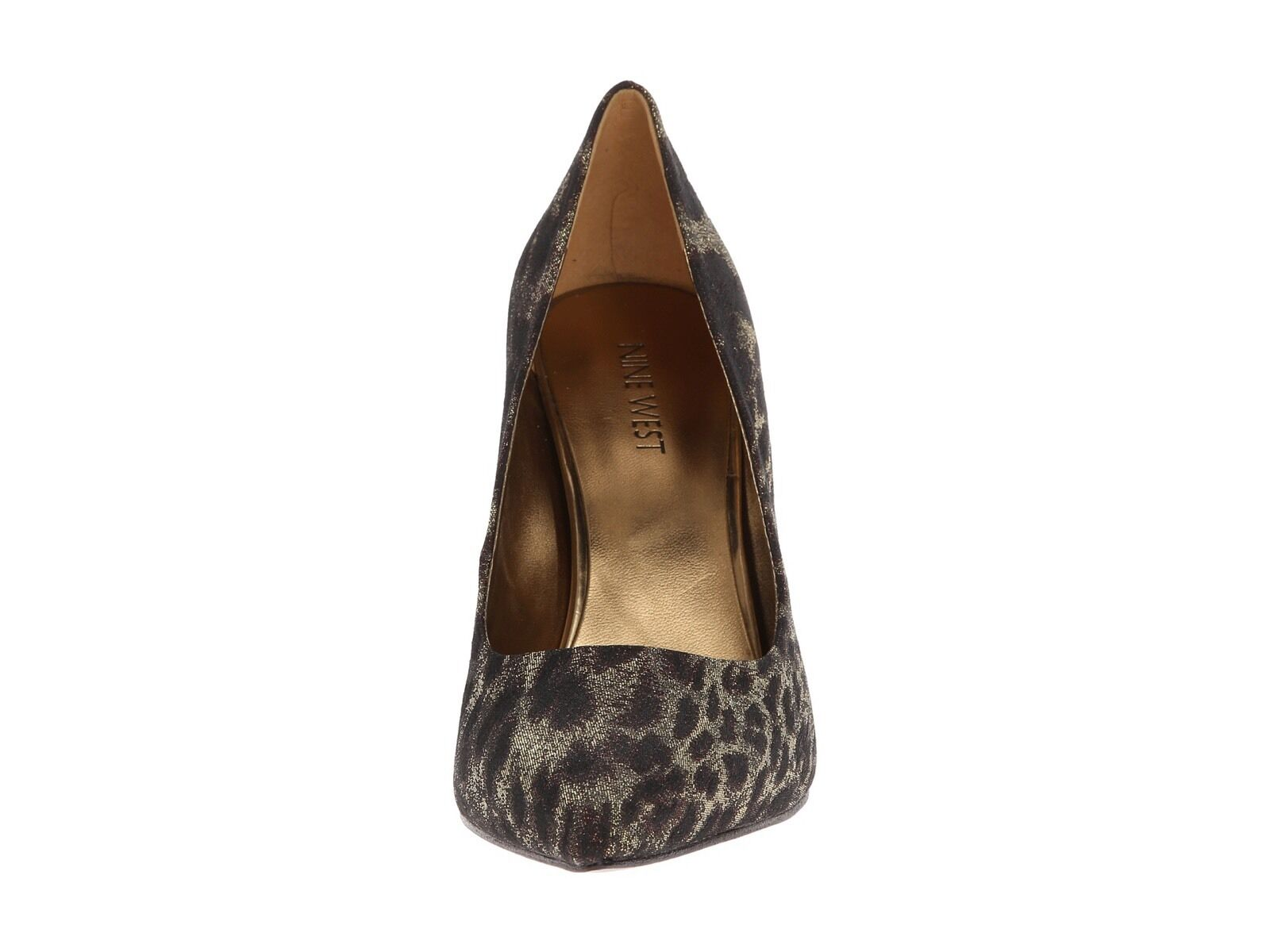 Nine Nine Nine West Flax 7 Bronze Gold braun Animal Leapord Pointed Toe Stiletto Pumps New 3aa746
