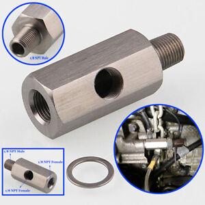 Sale-Oil-Pressure-Sensor-1-8-039-039-NPT-To-Adapter-Fitting-Turbo-Feed-Line-Gauge-Accs