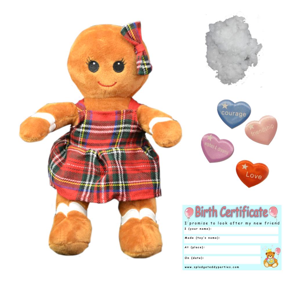 Lebkuchen Mädchen Christmas 20.3cm 20cm Build A Teddybär Herstellung Kit-No Sew    Haltbar