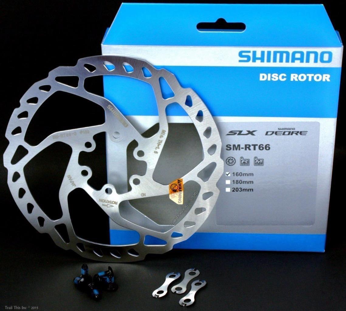SHIMANO SLX//DEORE RT66S 160MM 6-BOLT DISC BRAKE ROTOR