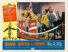 FATS DOMINO Singing At The Piano For SHAKE RATTLE AND ROLL 11x14 LC print 1956