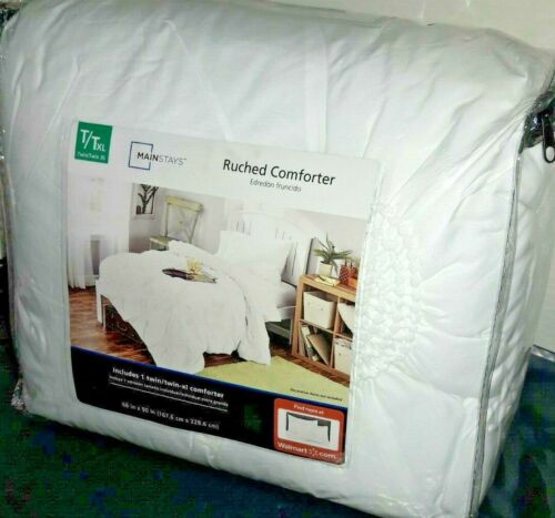 "/""Ruched/"" Decorative Twin Size Comforter 66/"" X 90/"" By /"" Mainstays/"""