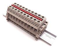 Solar Combiner Box Connector Din Rail Terminal Blocks Dinkle 6awg 60a 600v