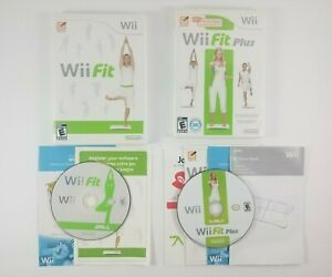 Wii-Fit-and-Wii-Fit-Plus-Nintendo-Wii-Complete-with-Case-Disc-amp-Manual-NO-BOARD