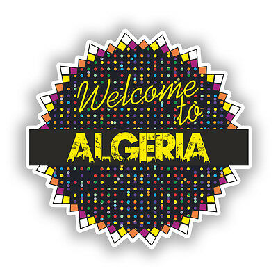 2 X Welcome To Algeria Vinyl Stickers Travel Luggage #7776