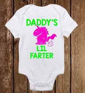 16856d9f Funny Daddy Lil Farter Onesies - Cute Baby Boy Girl clothes Newborn ...
