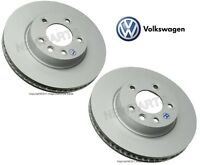 Volkswagen Touareg Pair Set Of Front Left And Right Disc Brake Rotors Genuine