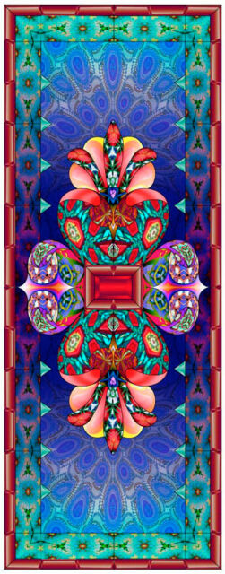 Stained Glass window cling - KALLEIDOSCOPE