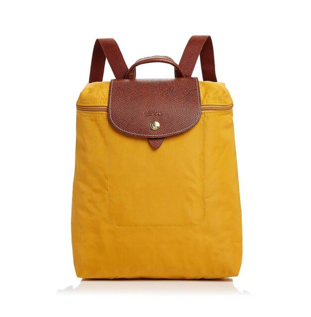 928549aaaf Longchamp Le Pliage Nylon Backpack 1699089620 Sunshine Yellow Auth ...